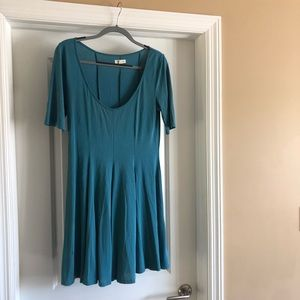 Urban Outfitters teal flowy dress
